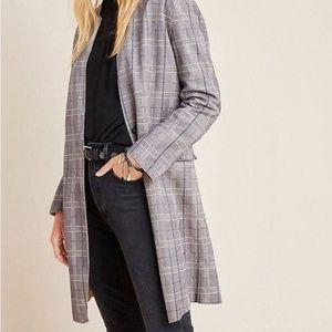 Blank NYC Renegade Plaid Longline Blazer Size PXS